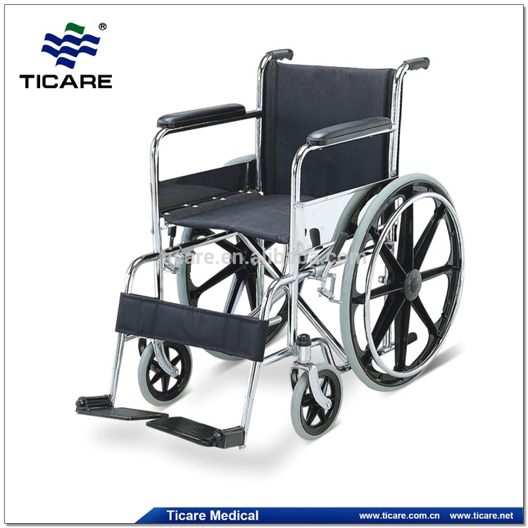 Manual Wheelchair Nylon Seat Steel Wheel Chair