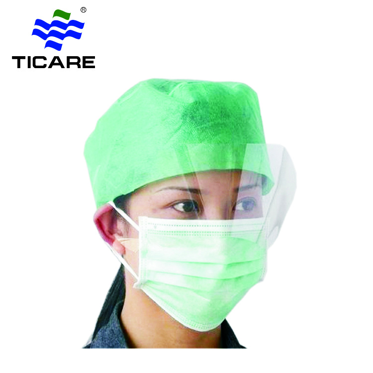 Disposable Non woven face mask with eye shield
