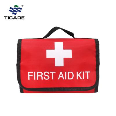 Red Folding First Aid Kit Bag for Outdoor