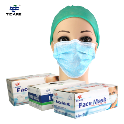 Disposable earloop 2-ply paper face mask for food process and clinic