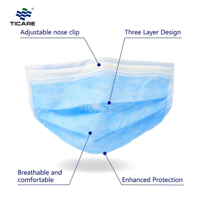 Medical Non-woven 3Ply Professional Surgical Disposable Face Mask