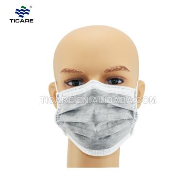 Medical three-layer non-woven disposable lacing mask