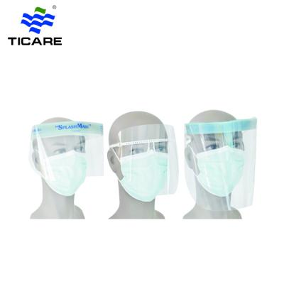 Medical Food and beverage Clear Plastic PC Protective Disposable Face Shield