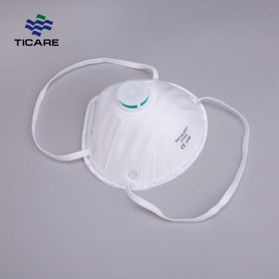 Earloop N95 Pollution Respirator Dust Mask With Valve Or Without