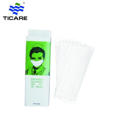 Disposable earloop paper face mask