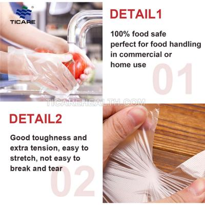 Disposable PE examination Polyethylene gloves for medical