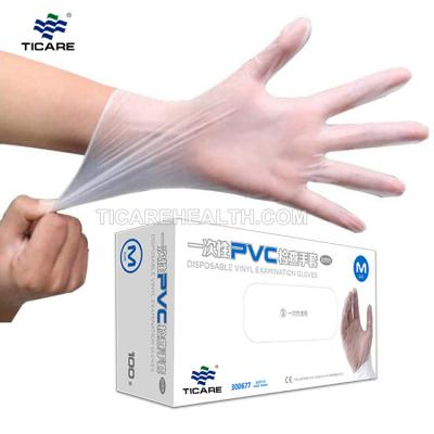 Disposable PVC Examination White Safety Vinyl Glove