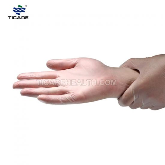 Medical Disposable Clear Color Vinyl Gloves