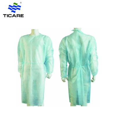Disposable PP protective waterproof isolation gowns