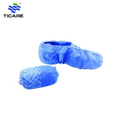 Medical elastic around non-skid non woven shoe cover