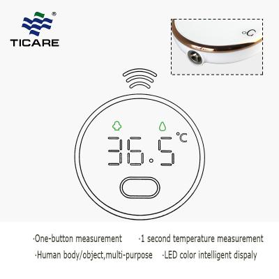 Portable round shape no touch pocket digital thermometer