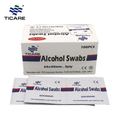 Disposable Skin antiseptic medical alcohol prep pad supplier