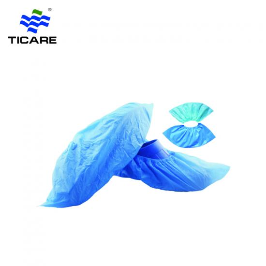 Waterproof Blue Plastic CPE Disposable Shoe Covers