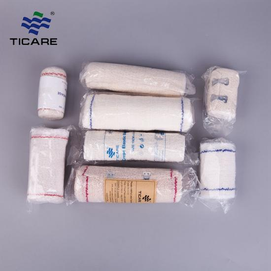 Medical Nature Color Crepe Elastic Bandage With Clip