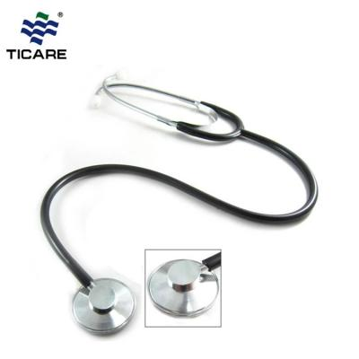 Adult Single Head Stethoscope (TC1057)  Aluminum alloy - Black