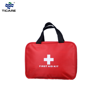 First Aid Kit Travel Hiking Camping Cycling Survival Emergency Wilderness TC1218 Nylon - Red