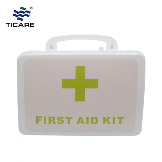 White First Aid Kit Plastic Case