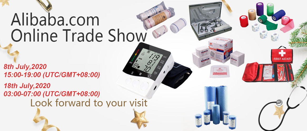 alibaba.com online trade show digital blood pressure meter / dual head stethoscope / first aid kit